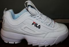 Кожаные кроссовки Fila Disruptor 2 all white RN-91175