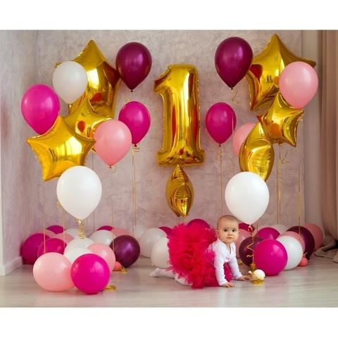 Фотозона из воздушных шаров для малышки
