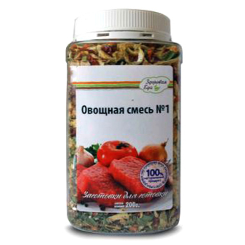 Овощная смесь №1 'Здоровая еда' в ПЭТ-банке, 200г