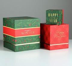 Набор подарочных коробок 3 в 1 «Новогодняя сказка», 11 × 9 × 9‒20 × 18 × 18 см, 1 набор.