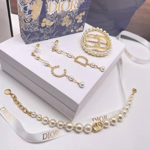 Dior Браслет, Серьги и Брошь