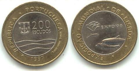 "200 эскудо 1997 год ""Лиссабон.Экспо 98"""