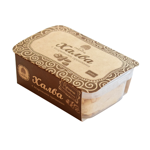 Халва кедровая без шоколада / контейнер / 200 г