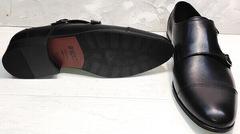 Удобные красивые туфли черные классика мужские Ikoc 2205-1 BLC.