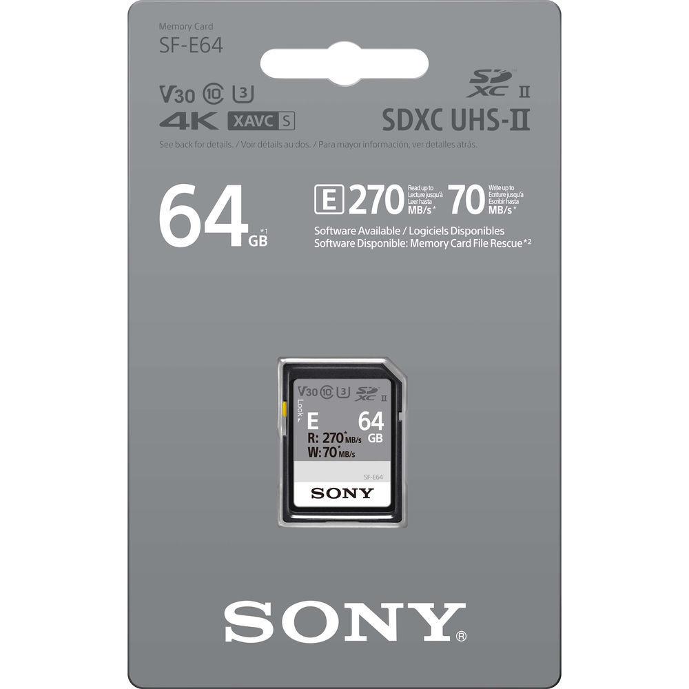 SF-E64 карта памяти SD XC Sony 64 Гб