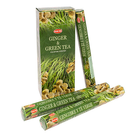Палочки ароматические благовония HEM Имбирь Зеленый чай Ginger Green Tea 20 шт