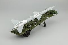 Transport-loading vehicle PR11 with rocket 20DSU khaki-gray DIP 1:43