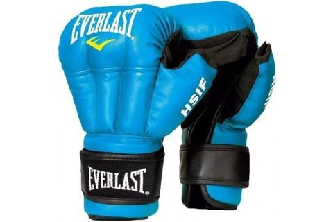 Перчатки для рукопашного боя Everlast HSIF RF3212L, 12oz, L, к/з, синий/Сфит (16875)