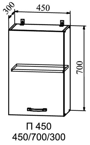 Кухня Гранд шкаф верхний 450