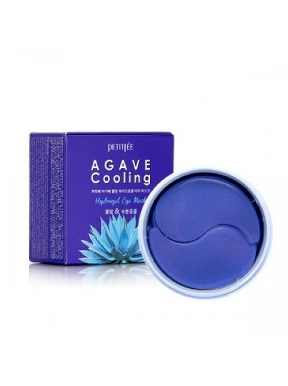 Охлаждающие гидрогелевые патчи с экстрактом агавы Petitfee Agave Cooling Hydrogel Eye Mask