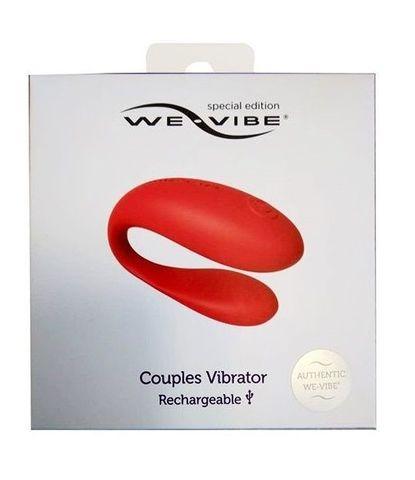 Красный вибратор для пар We-vibe Special Edition