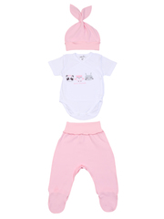 Mini Fox. Комплект на выписку швами наружу 6 предметов, розовые звери вид 2