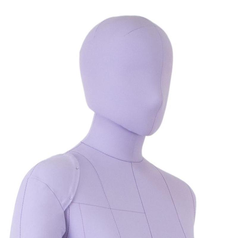Голова 53 см к манекену Моника Арт на магните, сиреневая