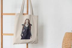 Сумка-шоппер с принтом Игра престолов, Санса Старк (Game of Thrones, Sansa Stark) бежевая 007