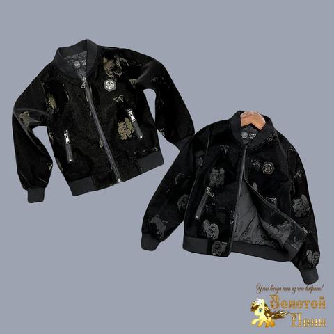 Куртка эко-кожа мальчику (4-13) 210727-К8802