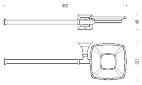 Мыльница+Полотенцедержатель Colombo Portofino хром B3274 схема