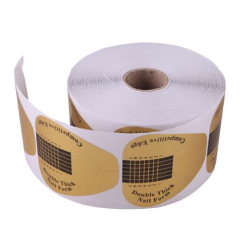 Формы в рулоне широкие, золото 500 шт.