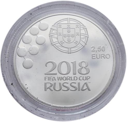 2,5 евро. Чемпионат мира по футболу в России. Португалия. Серебро. 2018 год