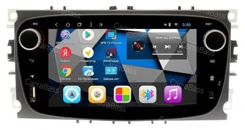 Магнитола для Ford овальная (чёрный) Android 8.1  модель CB3197T3