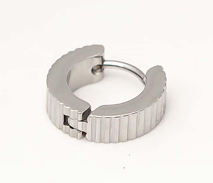 ER464-1 Мужские серьги кольца из стали