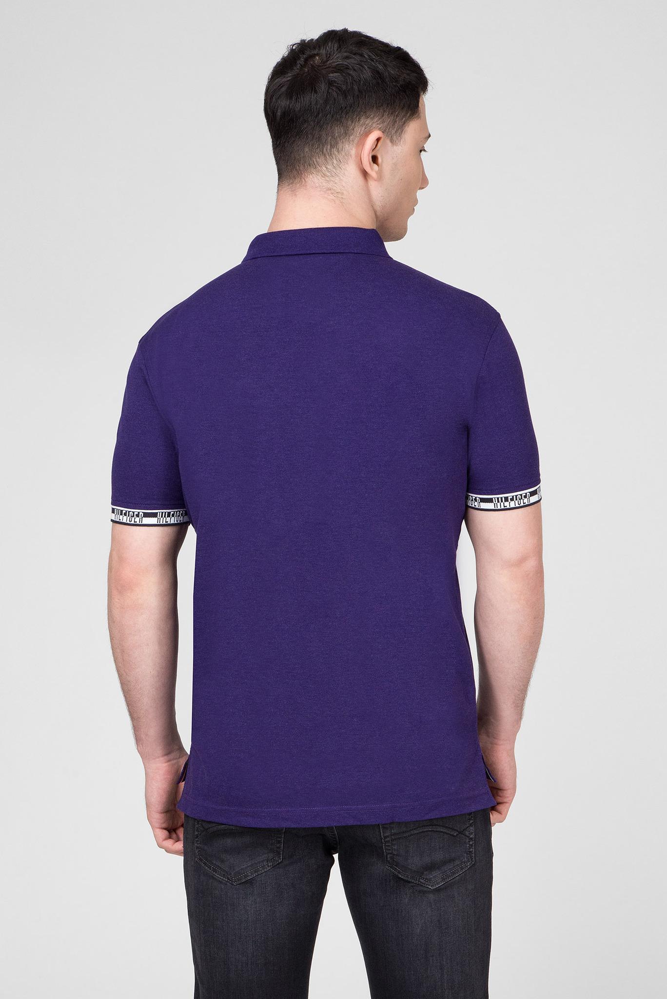 Мужское фиолетовое поло HEATHER BADGE Tommy Hilfiger