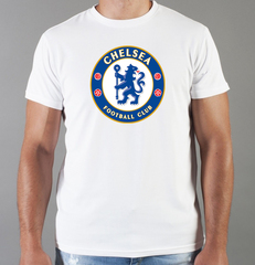 Футболка с принтом FC Chelsea (ФК Челси) белая 002