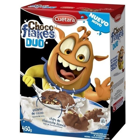 Готовый завтрак Choco flakes duo 450 гр