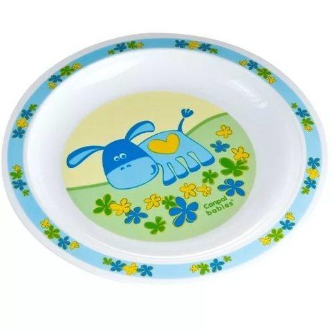 Тарелка пластиковая (4/411) 12+ (голубой)