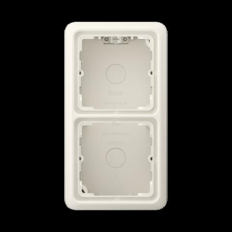 Накладная коробка на 2 поста. Цвет Слоновая кость. JUNG CD Накладные коробки. CD582AW