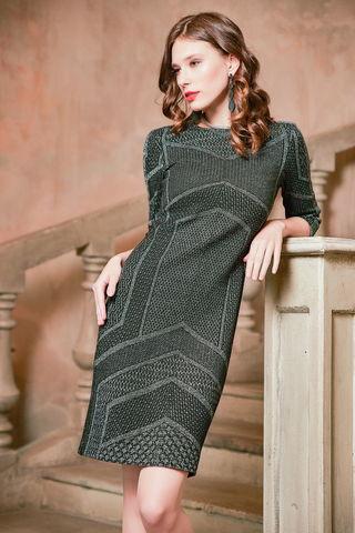 Фото модное трикотажное платье прилегающего силуэта - Платье З430-231 (1)
