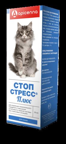 Стоп-стресс плюс для кошек капли 30 мл.