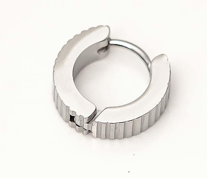 ER464-1 Мужские серьги кольца из стали фото 02