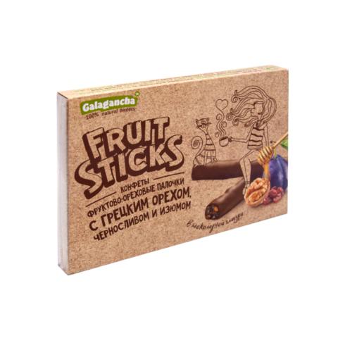 FruitSticks с черносливом и грецким орехом  в шоколадной глазури Galagancha 175г
