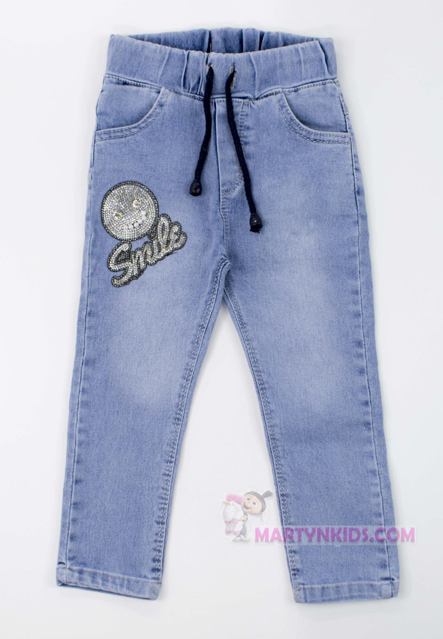3235  джинсы Смайлик блеск