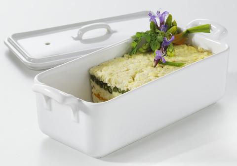Террин с крышкой  для запекания, белая, артикул 618410, серия Belle Cuisine