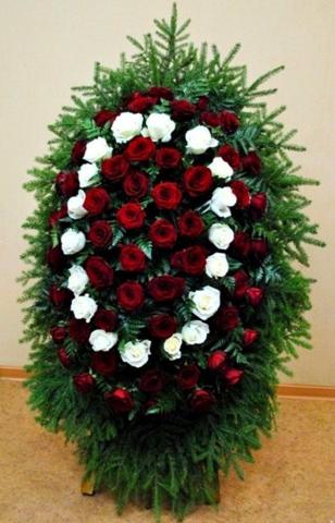 Венок из живых цветов элит ВЖ- 30
