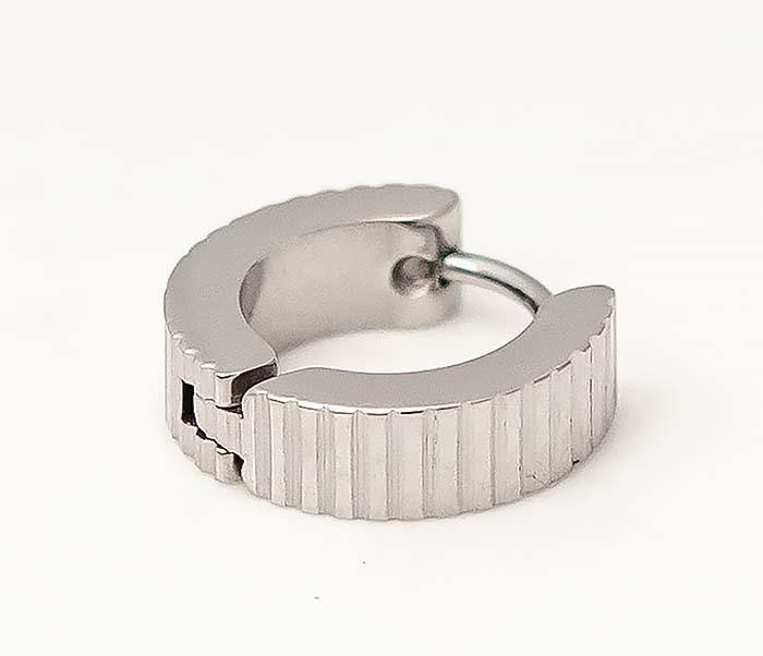 ER464-1 Мужские серьги кольца из стали фото 03
