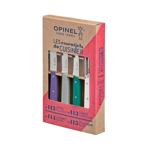 Набор ножей Opinel Les Essentiels Art deco, нержавеющая сталь, (4 шт./уп.), 001939