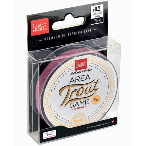 Плетеный шнур LUCKY JOHN Area Trout Game Braid Pink 75 м - 0,112 мм