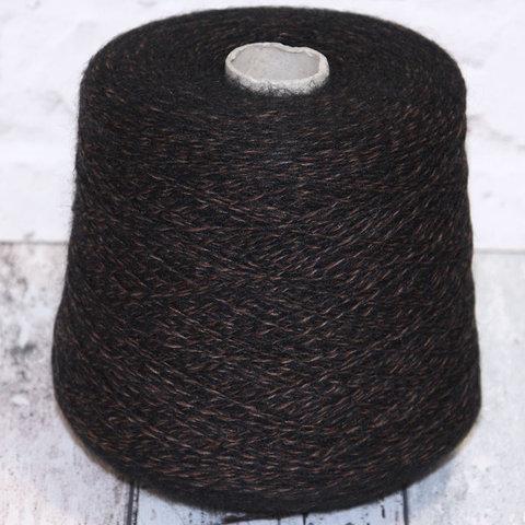 Смесовка с мохером MilleFili WENDY 430 черно-коричневый мулине