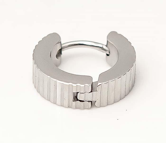 ER464-1 Мужские серьги кольца из стали фото 04