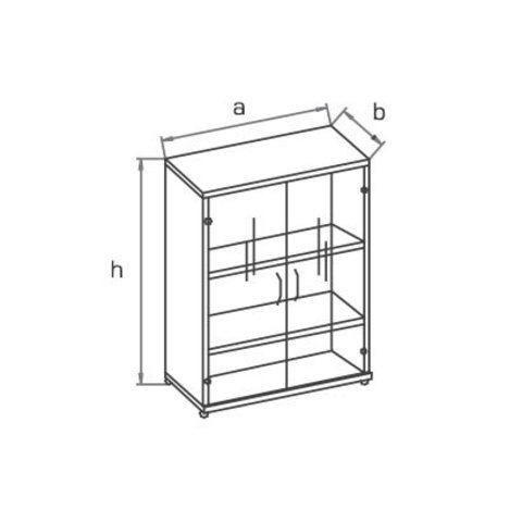 Шкаф со стеклянными дверцами R3S72 МОНО-ЛЮКС