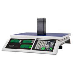 Весы торговые настольные Mertech M-ER 326AC-32.5 Slim, LCD/LED, АКБ, 32кг, 5гр, 325х230, с поверкой, без стойки