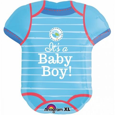 Фольгированный шар Боди С Рождением Малыш