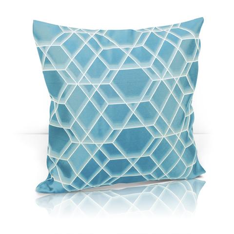 Подушка Алмаз голубой