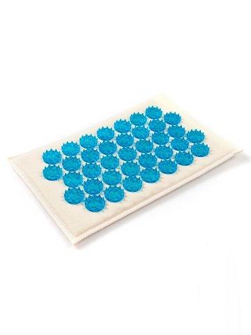 Тибетский аппликатор на мягкой подложке 12х22 см, синий