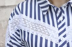 Астра. Літня сорочка великих розмірів. Синій.