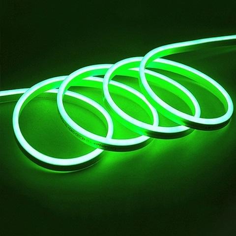 Гибкий неон Зеленый, SMD2835, 8х16 мм, 12 Вольт, Силикон