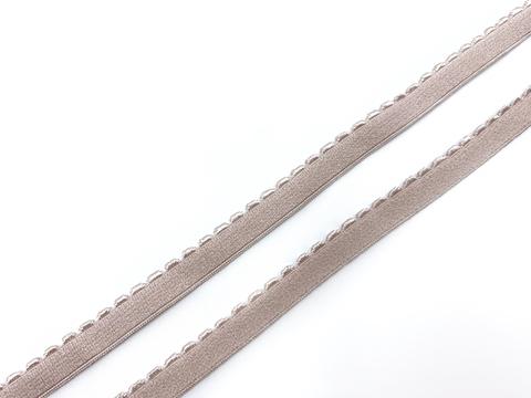 Резинка отделочная серебристый пион 10 мм (цв. 168)