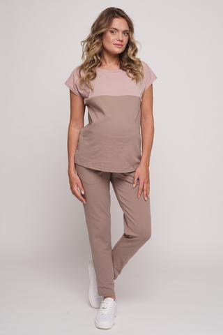 Спортивный костюм для беременных и кормящих 12738 тауп